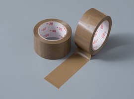 Unprinted brown tape